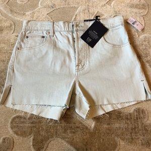 Gap high rise light blue shorts - 26 - new